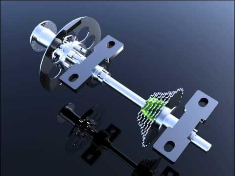 CUADRICICLO A PEDAL 04 Mecanismo de transmisión