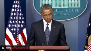 President Obama speaks on Gaza, new sanctions on Russia