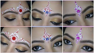 ❤💙💜 3 Easy Bindi designs for Bengali Bridal makeup   Chandan Art   Kum Kum Art   My OBSESSion