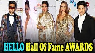 Uncut Hello Hall OF Fame Awards 2018 Full Show | Shahrukh | Deepika | Ranveer | Rekha | Kriti Sanon