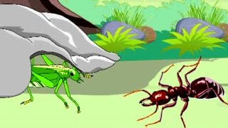 The Ant and The Grasshopper - Kids English Animation - Moral Story