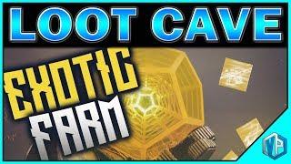 DESTINY 2 - NEW LOOT CAVE UNLIMITED ENGRAMS! LEGENDARY & EXOTIC FARMING!