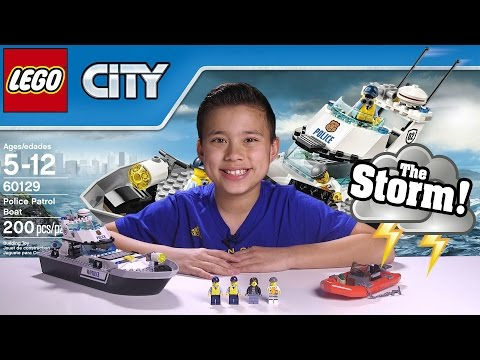 POLICE PATROL BOAT LEGO City Set 60129 UNDERWATER GoPro ACTION Time lapse Unboxing & Review