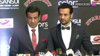 Ronit Roy and Rohit Roy | Red Carpet | Sansui Colors Stardust Awards 2016