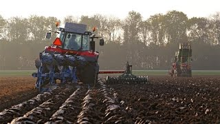 New Massey Ferguson 6616 & 7618 on tracks | Ploughing and planting bulbs