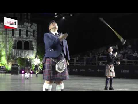 We will rock you bagpipe band & drummajors Sankt Galler Tattoo 2016