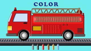 Kids TV Channel | Learn Colors with Ladder Truck | Fire Vehicles