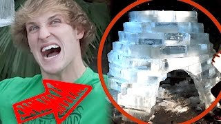 WINTER IGLOO MADE FROM 200 BLOCKS OF ICE! (Ft. The Dudesons)