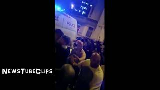 Finsbury Park Mosque Attack video Van hits people Finsbury Park mosque london 6/19/2017