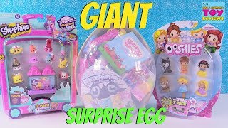 Hatchimals Ooshies Disney Trolls Giant Surprise Egg Opening | PSToyReviews