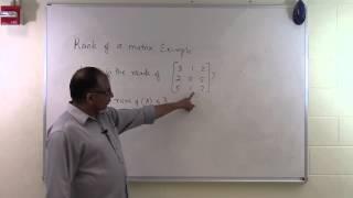 Rank of a matrix: Example 2