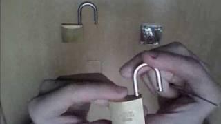 How to open a padlocks, bump key and key lock!