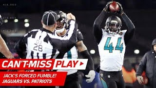 Pats Crazy Trick Play Ends w/ Myles Jack Forced Fumble! 🦄 | Can