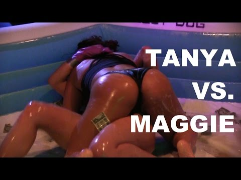 Cash, Oil, and 2 Sexy Girls In The Pool! | Tanya Vs. Maggie  | Oil Wrestling | Season 2 | Night 8