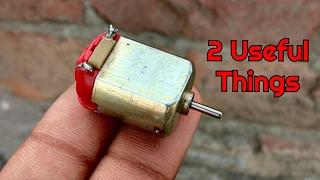 2 Incredible Gadgets From DC Motor   Life Hacks