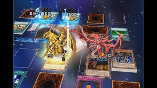 Yu-Gi-Oh Duel Links - Slifer the Sky Dragon and Winged Dragon of Ra both on the field