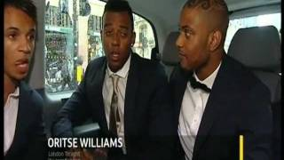 JLS in Limo off to Movie Prem - ITV London Tonight