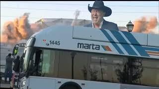 Camera man flips out at Marta bus blocking Georgia Dome implosion
