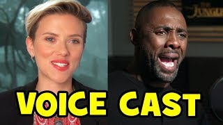 THE JUNGLE BOOK Voice Cast B-ROLL - Scarlett Johansson, Idris Elba, Lupita Nyong'o, Bill Murray