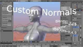 Blender Custom Normals (Promotion video)