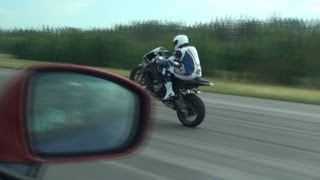 BMW S1000RR (one wheel) vs Nissan GT-R w/ ECU (Jury) from summer of 2011 2nd of July