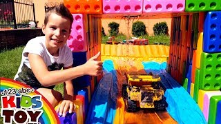 Toys Construction Vehicles BIG CAR Wash for Police, Combine, Fire and Garbage truck BRUDER TaTaToyzz