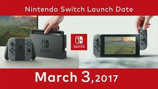 Nintendo Switch Release Date / Price Region / Locking Nintendo Switch Presentation 2017