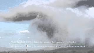 Nueva explosión del volcán Momotombo 12/01/2016