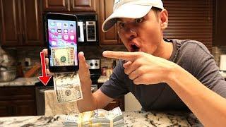 PRINTING MONEY FROM IPHONE 8 SECRET! | David Vlas