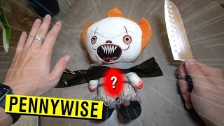 CUTTING OPEN HAUNTED PENNYWISE DOLL AT 3 AM!! (WHAT'S INSIDE THE DOLL?)