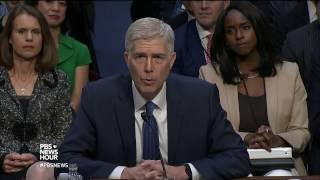 Gorsuch in confirmation hearing promises independence from politics