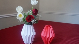 How to make paper vase sleeve