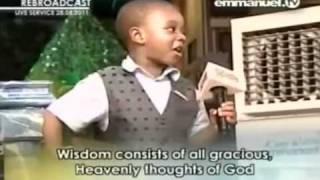 TB Joshua - FUNNY Little Boy IMITATING PROPHET