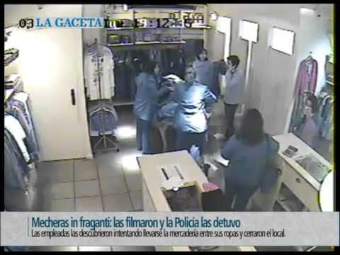 Mecheras in fraganti las filmaron y la Policía las detuvo