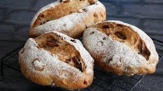 無花果と胡桃とクランベリーのパン | Fig, Walnut, and Cranberry Bread