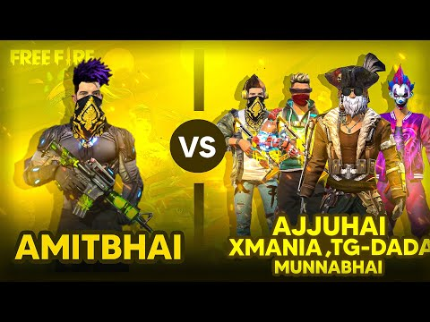 AmitBhai Vs 4 Youtubers 😡 1 Vs 4 Clash Squad Desi Gamers