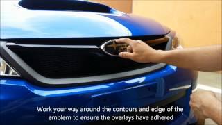 Subaru WRX STI Badge Emblem Overlays Installation Guide Vinyl Decal - JDMfanaticVinyls