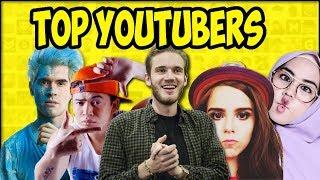 YouTubers Com Mais Inscritos (RANKING Sem Empresas Nem Canais De Música)