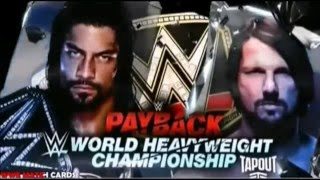WWE Payback 2016 Matchcard UPDATED