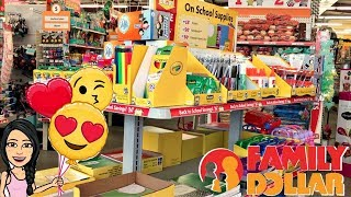 *LIVE* BACK TO SCHOOL SUPPLY SHOPPING AT FAMILY DOLLAR