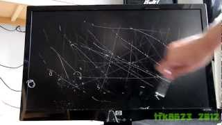 Scratch Test of HP 23 Inch Monitor  ( S2331a LCD Screen ) ( 720p ) HD