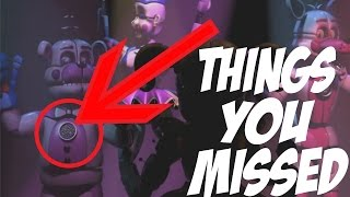 THINGS YOU MISSED! | Five Nights at Freddy's Sister Location Trailer Analysis