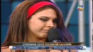 COMBATE Stephanie celosa por coqueteos de Mario Irivarren y la China 18/02/13