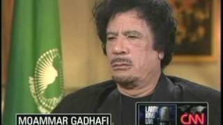 Moammar Gadhafi on Larry King 9/28/09 1 of 5