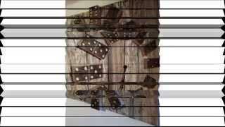 DIY Domino Clock from reclaimed pallet.