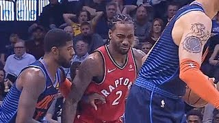 Kawhi Disrespects Paul George With Funny Facial Expression Then George Gets Revenge On Crazy Shot!