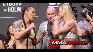 UFC 219 Ceremonial Weigh-In: Cris Cyborg vs. Holly Holm