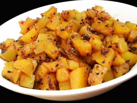 Andhra Recipes - Gummadikaya Koora - Pumpkin Curry - Indian Telugu Vegetarian Food