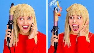 KISA SAÇ VE UZUN SAÇ SORUNLARI || 123 GO!'dan Her Gün Karşılaşılan Saç Sorunları Ve Komik Durumlar
