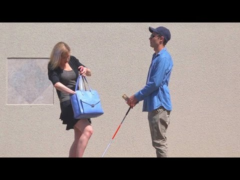 The Real Blind Man Honesty Test Social Experiment